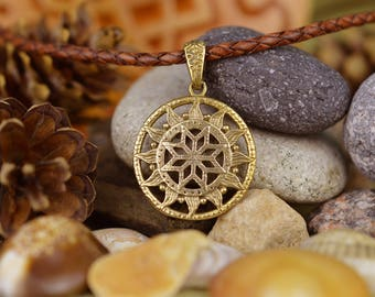 Nordic Perun Star. Nothern star. Handmade Alatir pendant. Viking Symbol. Scandinavian talisman. Ancient Nordic Amulet. Alatir Necklace