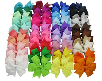 """Boutique Pinwheel Bows - Your choice of colors and quantity - 3"""" Hair Bows with a Flat back (no clips)"""