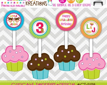 CT-598: DIY - Pajamas Sleepover 5 Cupcake Toppers