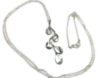 Long branch necklace, mixed metal necklace, Manzanita branch necklace, #jjrmlong