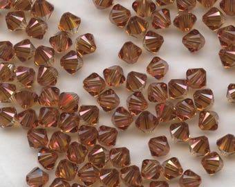 T4 5328 CO *** 20 bicone beads crystal Swarovski 5mm CRYSTAL COPPER