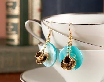 Teacup Dangle Earrings