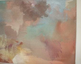JACK ROBERTS Contemporary Original Painting 48 3/4 X 72 3/4