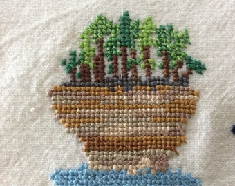 Turnip Rock Needlepoint Towel