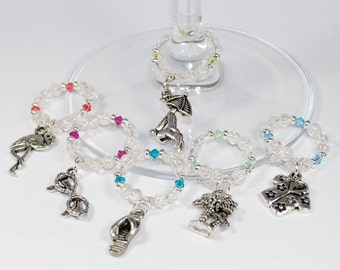 Relax on the Beach - Themed Wine Glass Stem Charms