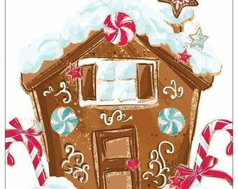 Christmasland gingerbread house sticky note pad