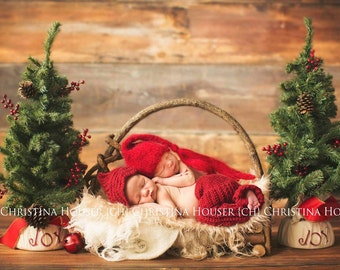 SET Blonde Mongolian Faux Fur, Ivory and Tan Burlap Layers, Newborn Photography Props