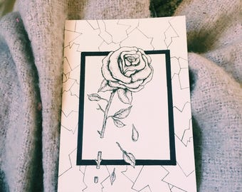 Rose drawing, original
