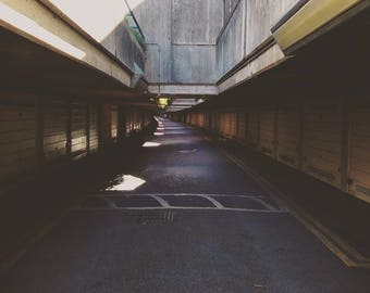 Brutalism Print, Brutalism Photography, London Photography, Alexandra Road Estate, Rowley Way, Sci Fi Print, Car Park, Cinematic Print, Art