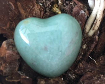 Light Green Aventurine Heart infused w/ Love and Reiki, Healing Crystals and Stones