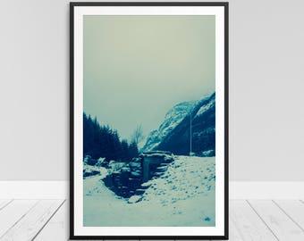 Foggy Mountain Print, Fog Wall Art, Mist Fog Print, Fog Art Picture, Foggy Print, Fog Printable, Fog Photo Print, Foggy Mountain