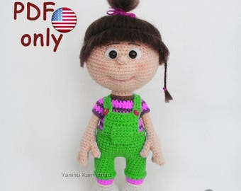 Crochet pattern - Little baby girl amigurumi doll (English)