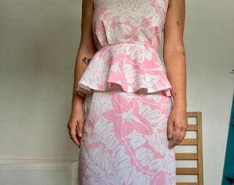 Vintage 80s Tropical Dress