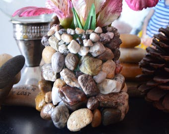 Stone and glass holder