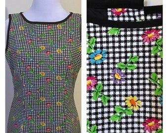 1990s shift small floral dress size 6