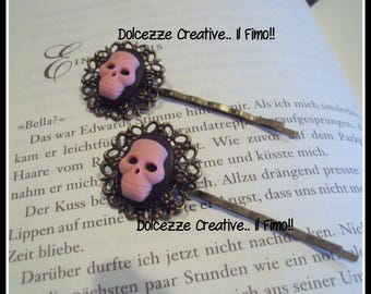 Skeleton-hair accessories-hairpins kawaii miniature resin-handmade