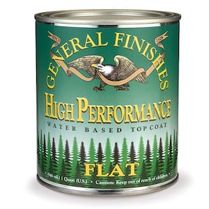 General Finishes High Performance Top Coat- Pint Quart or Gallon- Flat Satin Semi-Gloss or Gloss- Water Based Polyacrylic- New Formula!