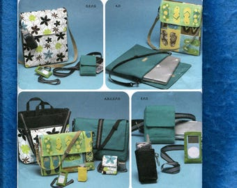 Simplicity 4391 Laptop Cases School Book Bag & Cell Phone Case Pattern