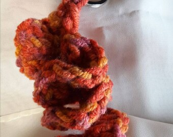 Knitted Spiral Key Ring