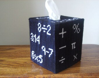 Math Rocks Tissue Box Cover, math gift, Math Teacher Gift, Mathematics, Classroom Decoration, Math Classroom, teacher appreciation gift