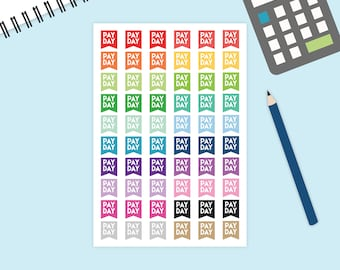 Payday flag stickers, Pay Day Stickers, Money Stickers, pay day stickers, PayDay tracker, bunting flag payday, planner stickers, It's payday