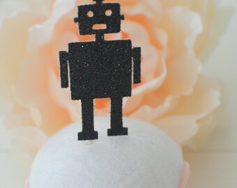 Robot cupcake topper, robot party