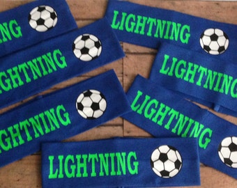 """Personalized 2 1/2"""" Wide Soccer Headband"""