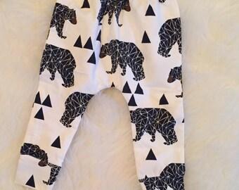boy bear leggings, toddler bear leggings, baby bear leggings, boy leggings, baby bear set, baby bear onesie, bear leggings