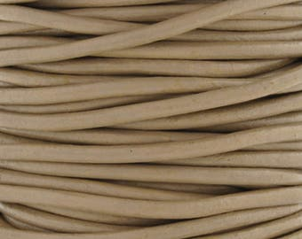 Leather-2mm Round Cord-Soft-Beach-10 Meters