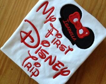 My First Disney Trip Applique Tshirt