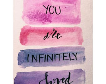 You Are Loved mini artwork