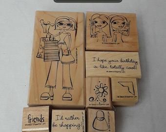 GONE SHOPPIN' stamping blocks