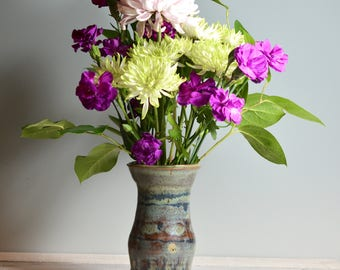 Fleur Vase - poterie artisanale - Vase en céramique fait à la main