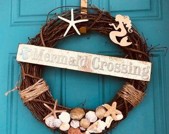 Rustic Coastal Mermaid Wreath