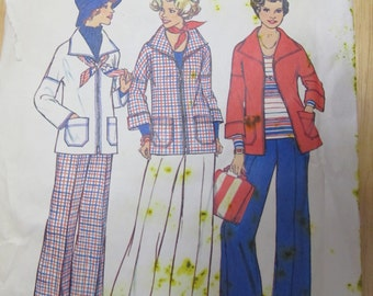 1976 Simplicity Pattern for unlined Jacket and Pants 7347