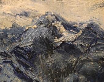 blue mountains original oil painting