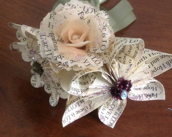 Personalized Origami Paper Flowers Choose Your Own Words