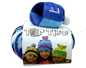 Novelty Yarn with fun topper hat kit
