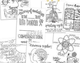 Science Coloring Pages | 4th EDITION Classical Conversations Cycle 3