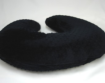Black Boppy Pillow Cover Minky