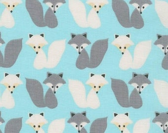Ann Kelle's Woodland Pals 2, Foxes on blue, Yard