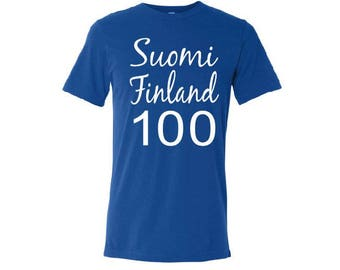 Suomi Finland 100 Anniversary of Independence Tee Shirt