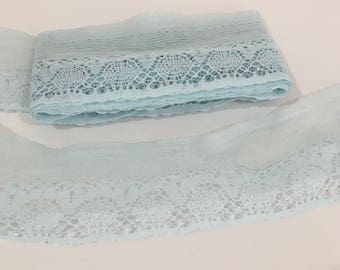 Pale Blue Lace Trim, Sewing, Trim, Crafting Supply