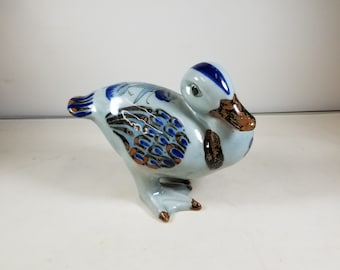 Vintage Ken Edwards El Palomar Mexico Pottery Stoneware Signed Hallmarked Duck Figurine