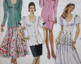 Dress Sewing Pattern/ McCalls 6525 /UNCUT /Size 10-12-14
