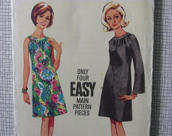 """1960s Dress - 31"""" Bust - Butterick 4304 - Vintage Retro Sewing Pattern"""