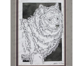 Keeshond Papercutting- Handcut Original