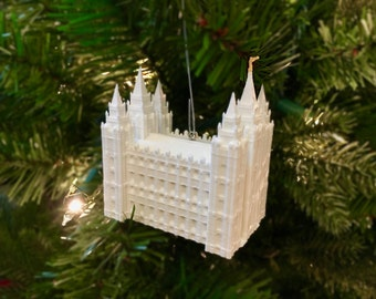 Salt Lake City, Utah LDS Temple Christmas Ornament