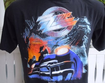 Size L (47) ** 1990 ZZ Top Concert Shirt (Double Sided)