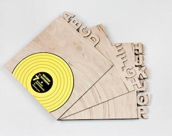 Vinyl record dividers. Horizontal. Set of 7.